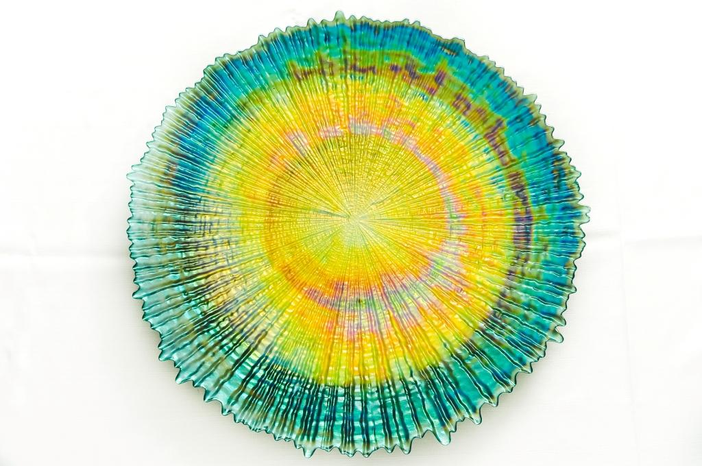 Prato de Vidro modelo Arco-Íris - Vylux