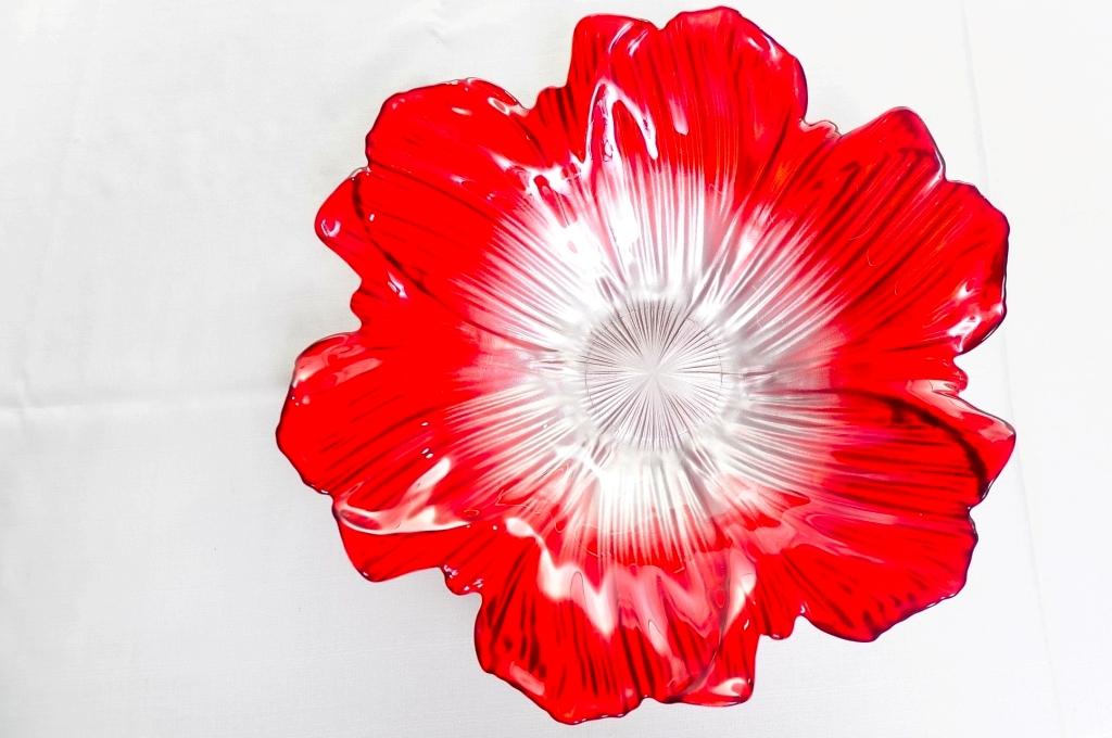 Saladeira Vermelha Flor Funda - Vylux