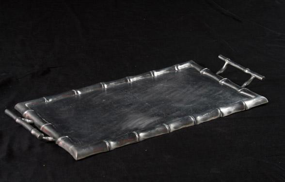 Travessa de Alumínio Polido Retangular com alça