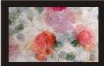 Toalha Quadrada Floral Voil Rosa