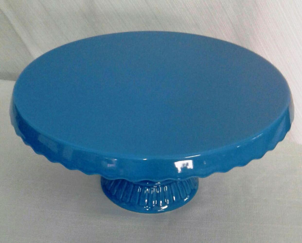 Suporte de Porcelana Azul Royal Grande