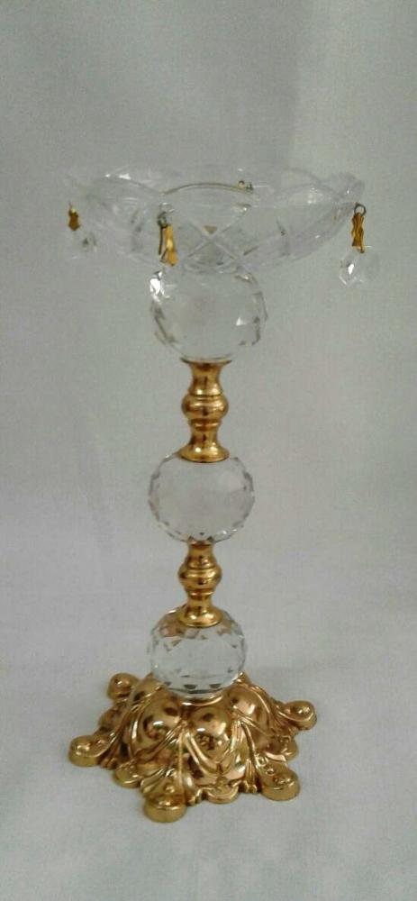 Castiçal de Cristal Dourado M