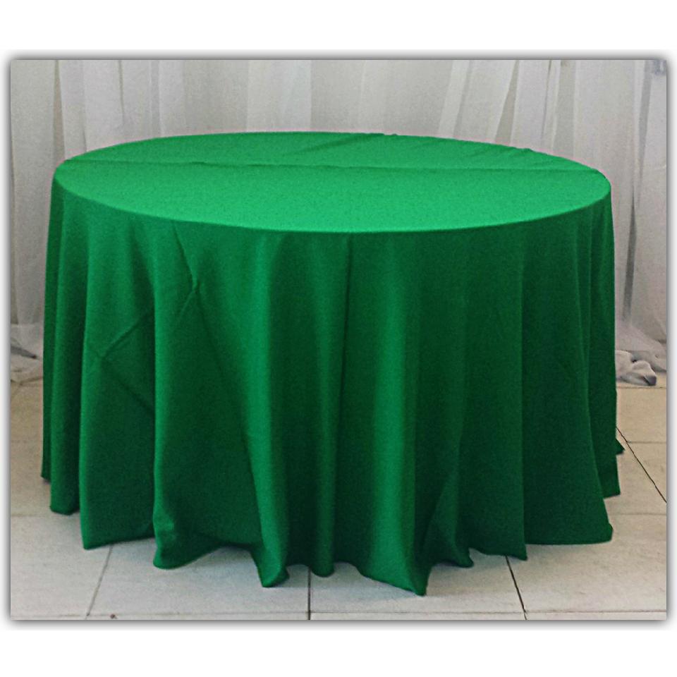 Toalha Redonda de 06 Lugares Verde Bandeira