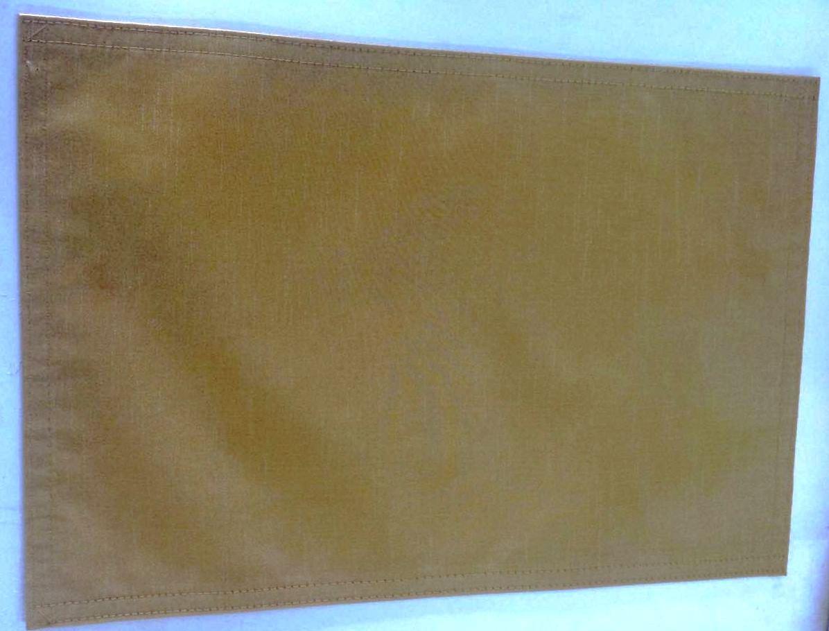 Jogo Americano Retangular Dourado/Ocre Seda