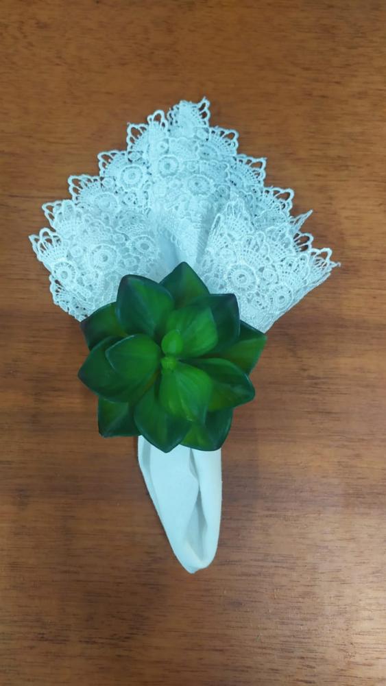 Porta guardanapo suculenta verde