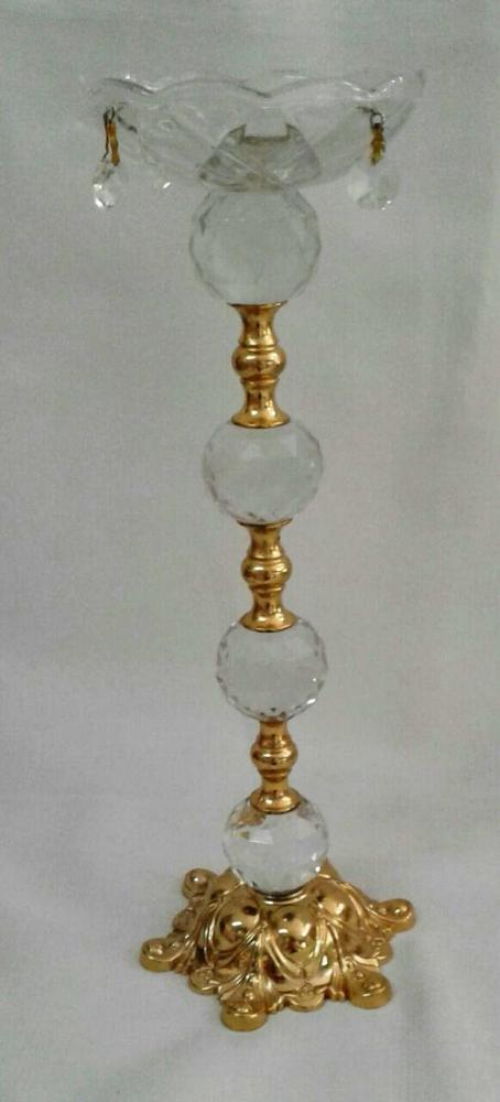 Castiçal de Cristal Dourado G