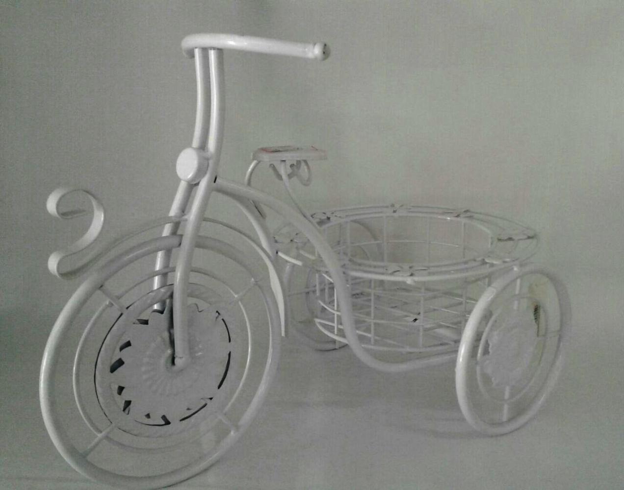 Bicicleta de Metal Branca