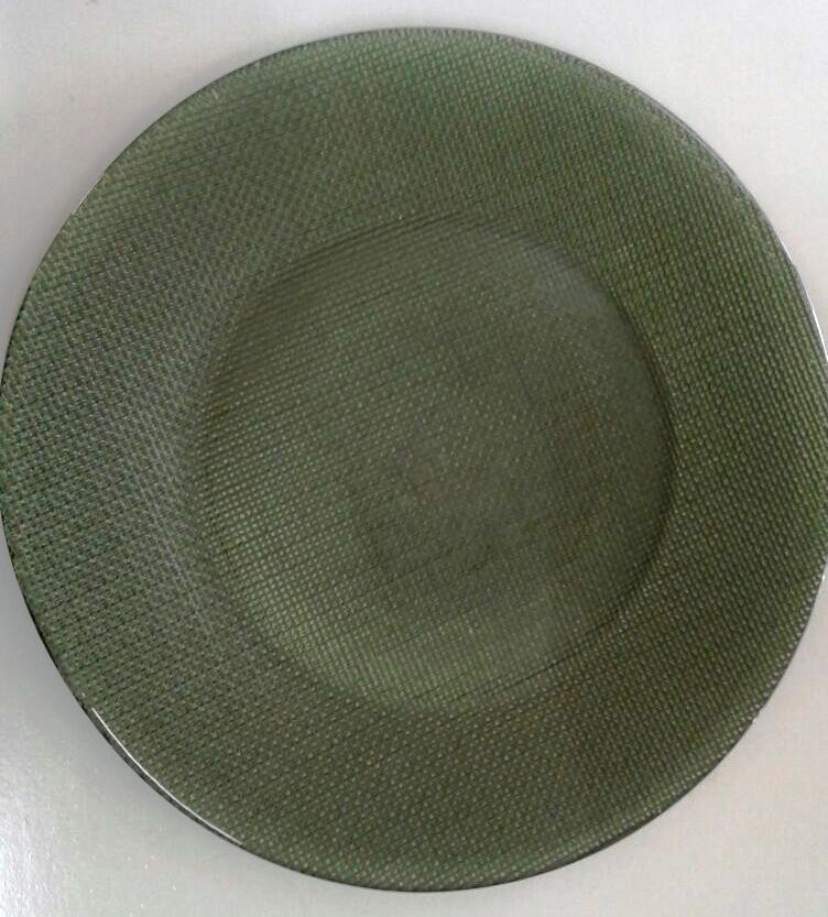 Sousplat Verde Musgo de Vidro