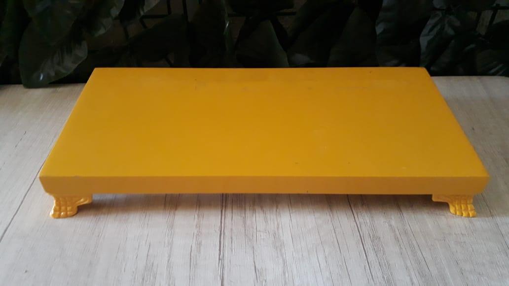 Suporte Bandeja Retangular Amarela MD MDF 32x14