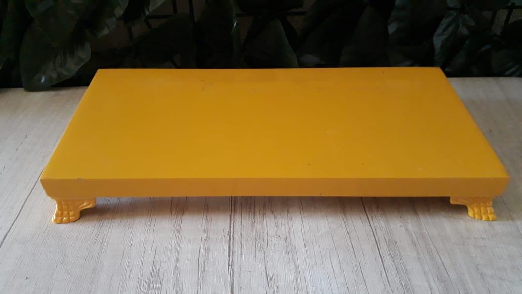 Suporte Bandeja Retangular Amarela PQ MDF 23x12