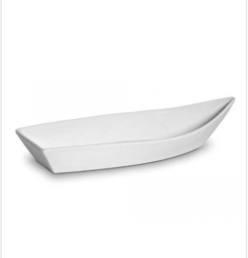 Barca de Porcelana Branca 49cmx18cm