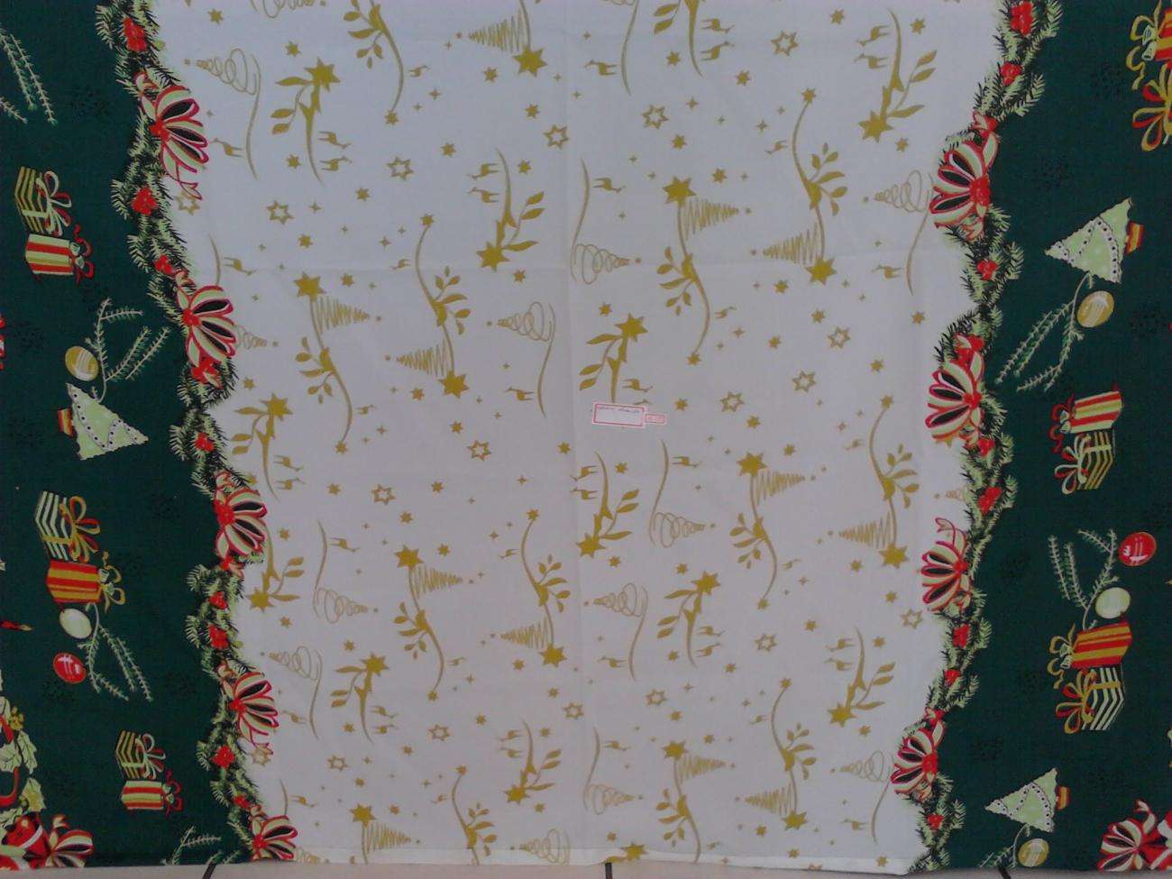 Toalha Quadrada Natalina Branca Estrela