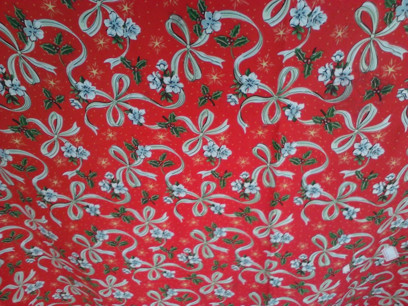Toalha de Banquete Natalina Vermelha Laço