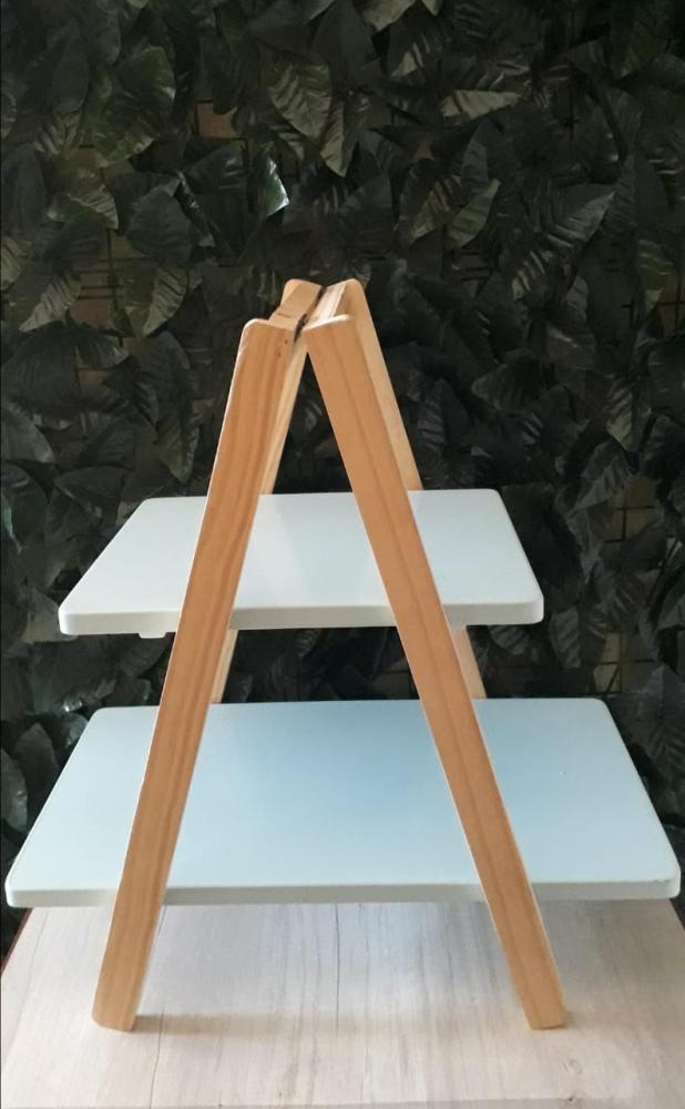 Escada de Mesa Azul Bebê 48x28