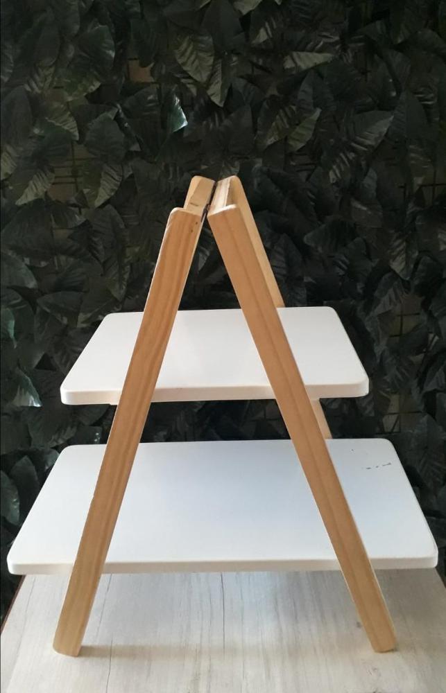 Escada de Mesa Branca 48x28