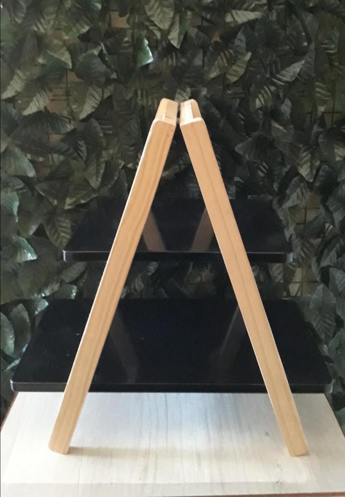 Escada de Mesa Preta 48x28