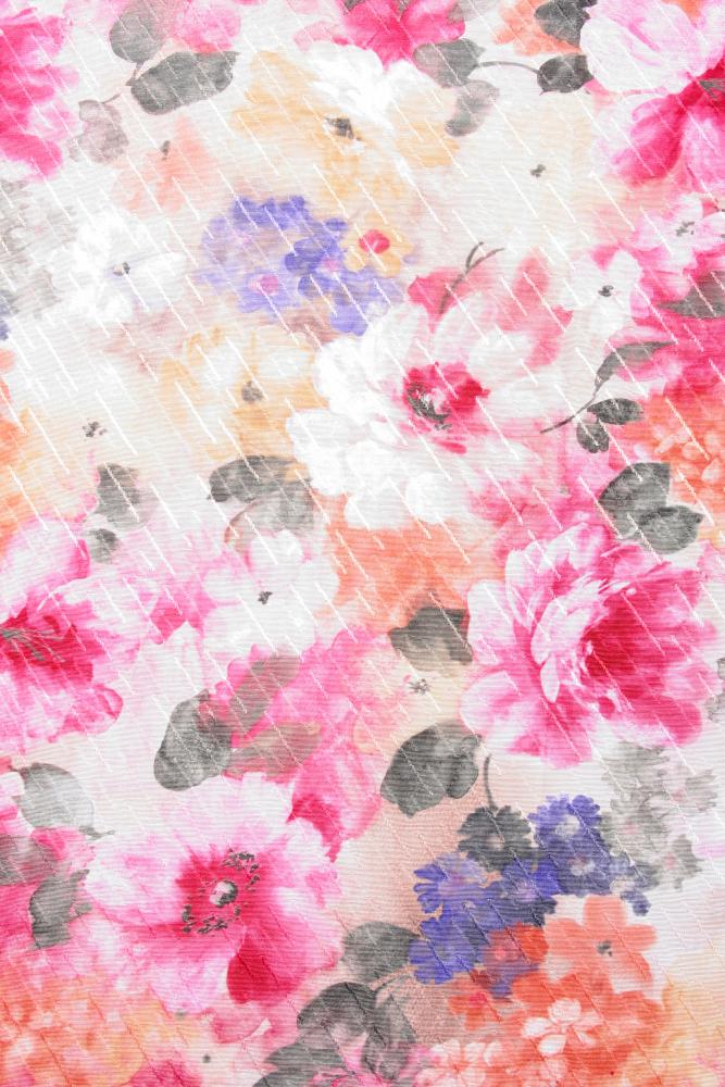 Toalha Quadrada Floral sem Barra