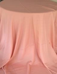 Toalha Redonda de 10 Lugares Rosa Seco
