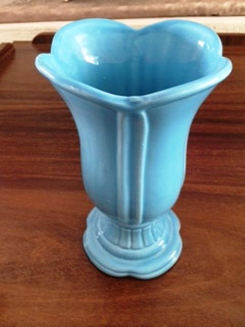 Vaso de Porcelana Azul Médio