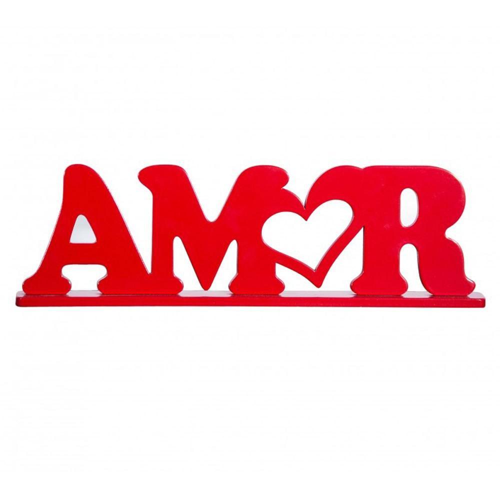 Amor Vermelho - Palavra Decorativa