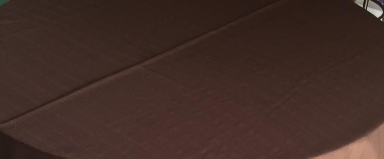 Toalha de Banquete Marrom / Chocolate