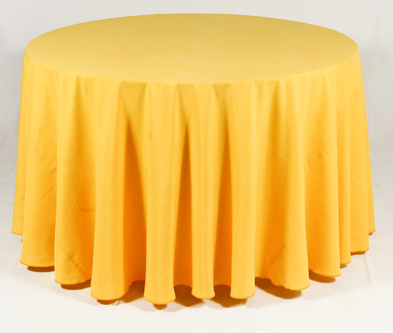 Toalha Redonda de 06 Lugares Amarela