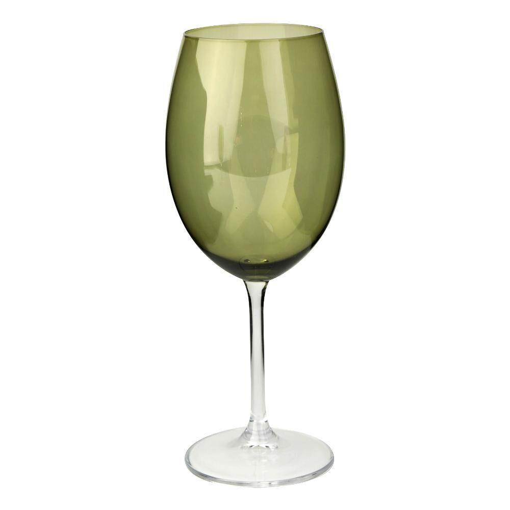 Taça Água Bohemia Cristal Verde Musgo