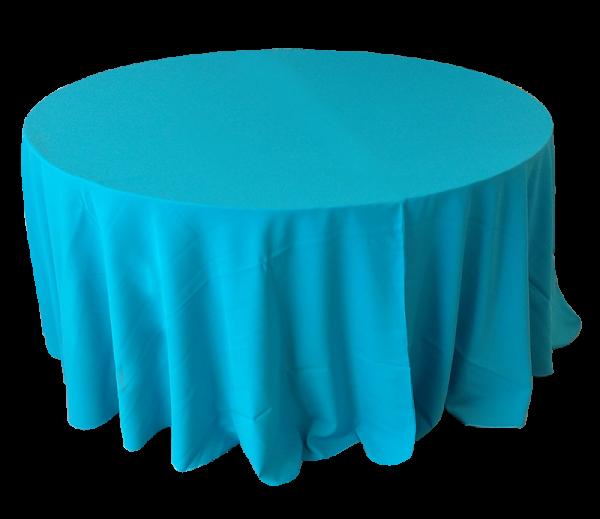 Toalha Redonda de 10 Lugares Azul Turquesa