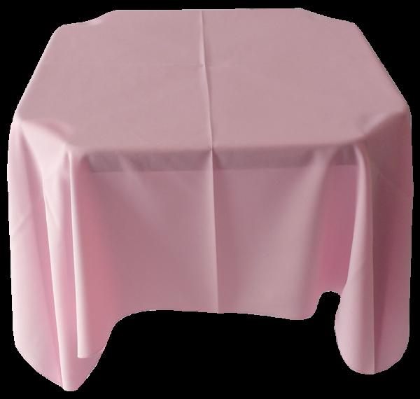 Toalha Quadrada Rosa Bebê