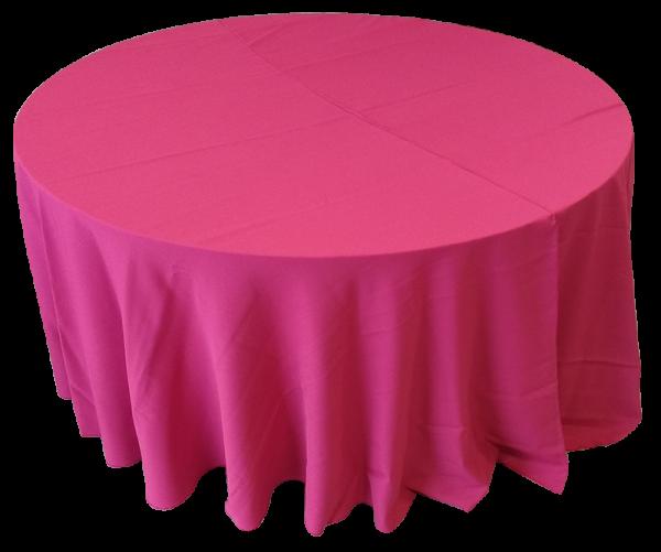 Toalha Redonda de 10 Lugares Rosa Pink