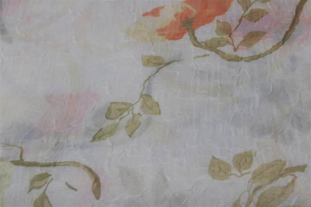 Toalha Quadrada Floral Voil Marfim