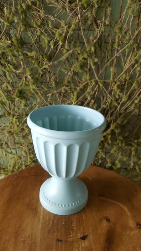 Vaso azul bebê melanina