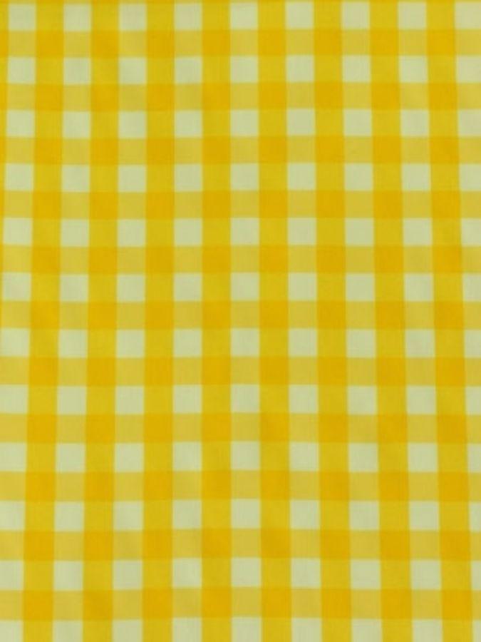 Toalha Quadrada Xadrez Amarela
