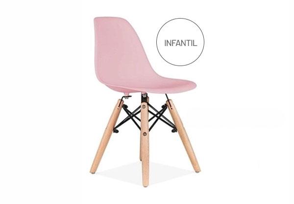 Cadeira charles kids rosa bebê