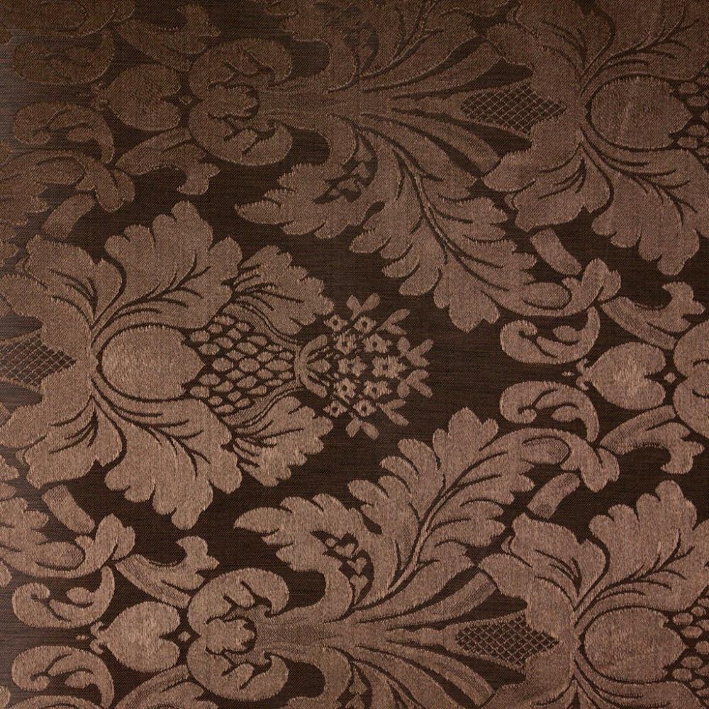 Toalha de Banquete Chocolate/Marrom Adamascada