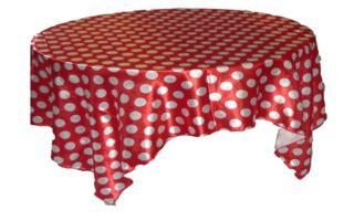 Toalha Quadrada Poá Vermelha e Branca