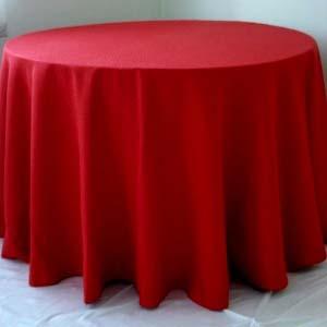 Toalha Redonda de 06 Lugares Vermelha
