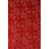 Toalha Quadrada Vermelha Adamascada