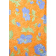 Toalha Quadrada Floral Laranja