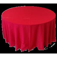 Toalha Redonda de 10 Lugares Vermelha