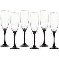 Taça de Champagne Preta
