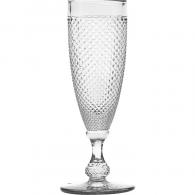Taça de Champagne Bico de Jaca Transparente